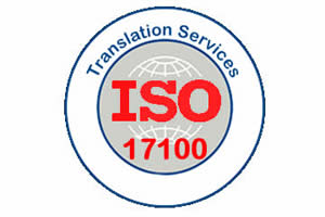 certificate or logo for ISO17100 for translation services