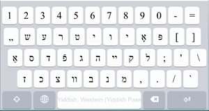 English to Yiddish Translation